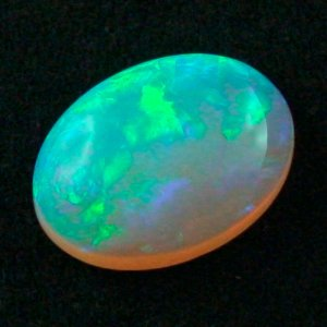 16.27 ct Black Crystal Opal gemstone 22.15 x 16.25 x 7.31 mm, pic4
