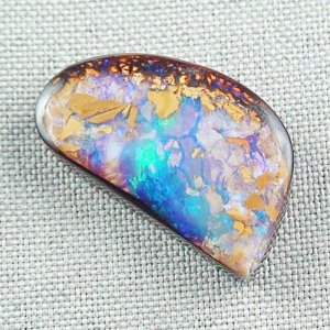 50.09 ct Boulder Opal Gemstone 32.49 x 18.62 x 7.84 mm, pic6