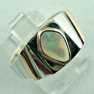 opalring, 11.10 gr goldring silverring with white opal 1.40 ct, pic6