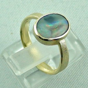 4.06 gr. opalring, 14k gold ring with opal, 1.49 ct semiblackopal, pic5