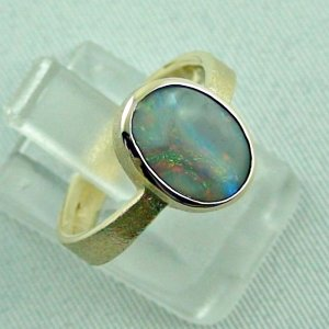 4.06 gr. opalring, 14k gold ring with opal, 1.49 ct semiblackopal, pic6