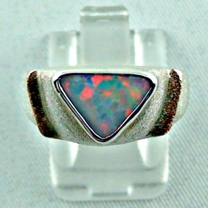1.05 ct opalring, 9.93 gr silverring, white opal, ladies ring