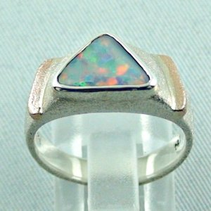 1.05 ct opalring, 9.93 gr silverring, white opal, ladies ring, pic4