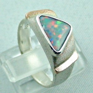 1.05 ct opalring, 9.93 gr silverring, white opal, ladies ring, pic5