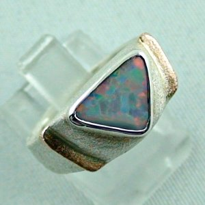 1.05 ct opalring, 9.93 gr silverring, white opal, ladies ring, pic6