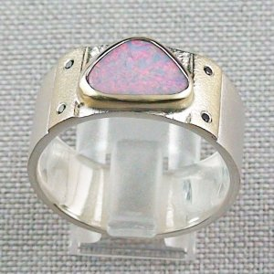 Opalring, 12,48 gr Goldring Silberring mit White Opal 1,66 ct, Bild4