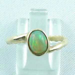Opalring, 2.88 gr. goldring 14k, Welo Opal 1.15 ct women's ring