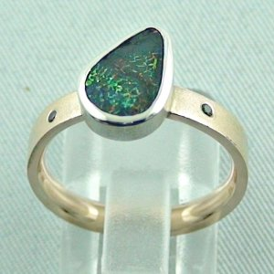 opalring, 8k goldring 4.83 gr. with opal, boulder opal 1.91 ct, pic4