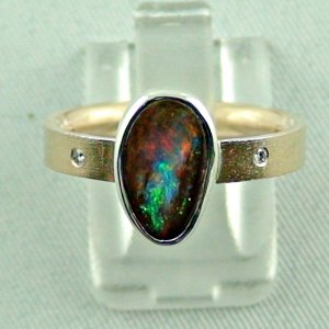 opalring, 8k goldring 4.91 gr. with boulder opal 2.32 ct