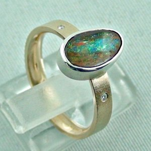 opalring, 8k goldring 4.91 gr. with boulder opal 2.32 ct, pic5