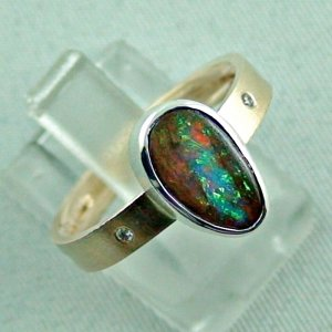 opalring, 8k goldring 4.91 gr. with boulder opal 2.32 ct, pic6