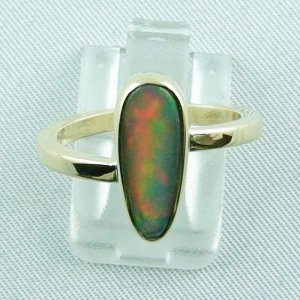 Opalring / 585er Goldring 14k mit 2,04 ct Welo Opal