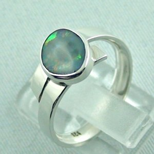 opalring, 4.69 gr silverring with semi black opal 0.93 ct, ladies ring, pic3