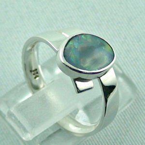 opalring, 4.69 gr silverring with semi black opal 0.93 ct, ladies ring, pic5
