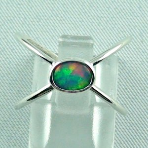opalring, ladies ring, 2.40 gr silverring with Welo opal 0.50 ct