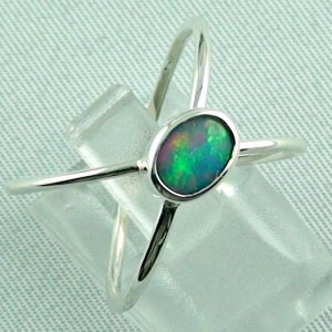 opalring, ladies ring, 2.40 gr silverring with Welo opal 0.50 ct, pic6