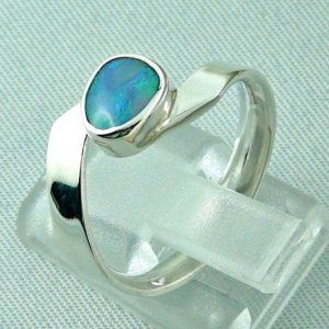 opalring, 3.63 gr silverring with black opal 0.88 ct, ladies ring, pic3