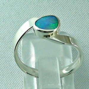 opalring, 3.63 gr silverring with black opal 0.88 ct, ladies ring, pic4