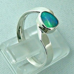 opalring, 3.63 gr silverring with black opal 0.88 ct, ladies ring, pic5