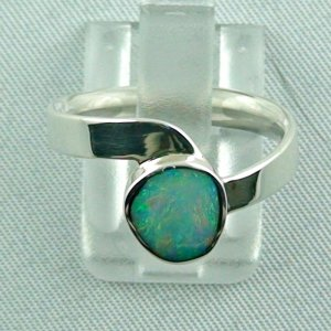 Opalring, 3,54 gr Silberring mit White Opal 1,13 ct, Damenring