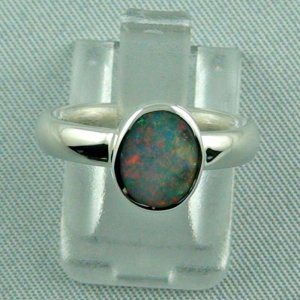 opalring, 4.59 gr silverring with semi black opal 0.60 ct, ladies ring