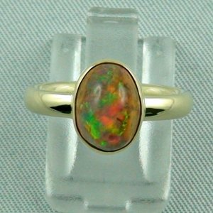 4.96 gr. opalring, 14k / 585 goldring with fire opal, ladies ring