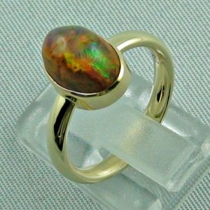 4.96 gr. opalring, 14k / 585 goldring with fire opal, ladies ring, pic3