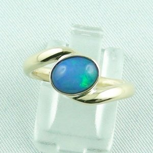 1.06 ct welo opal ladies ring, 4.80 gr opalring, 14k goldring