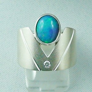 10.38 gr opalring, silver ring with Welo Opal 1.68 ct