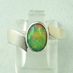 Opalring / Sterling Silber Designerring mit 1,21 ct Top Welo Opal