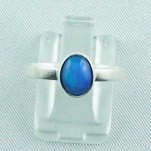 2.49 gr opalring, silver ring, Welo Opal 0.59 ct