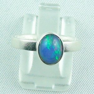 Opalring / Sterling Silberring mit 1,14 ct Top Welo Opal