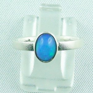 2.49 gr opalring, silver ring with Welo Opal 0.80 ct, pic1
