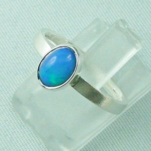 2.49 gr opalring, silver ring with Welo Opal 0.80 ct, pic2