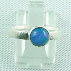 3.69 gr opalring, silver ring with Welo Opal 1.10 ct