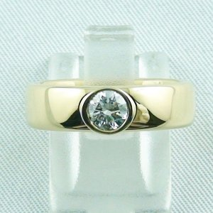 diamondring, goldring with diamond 0.50 ct, 750 or 18k yellow gold