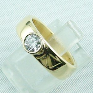 diamondring, goldring with diamond 0.50 ct, 750 or 18k yellow gold, pic2