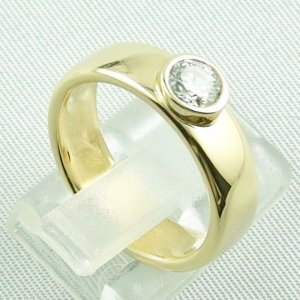 diamondring, goldring with diamond 0.50 ct, 750 or 18k yellow gold, pic5