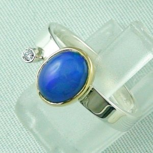 4.65 gr opalring, silver ring women with Welo Opal 1.66 ct, pic2