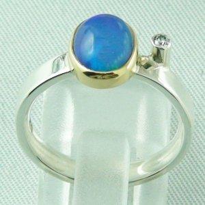 4.65 gr opalring, silver ring women with Welo Opal 1.66 ct, pic4