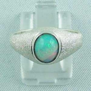 4.47 gr opalring, silver ring with Welo Opal 1.22 ct