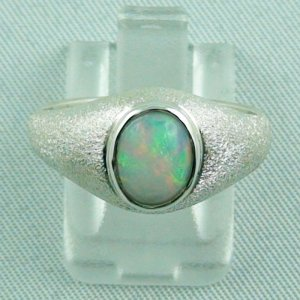 4.39 gr Opalring, Silberring mit Welo Opal 0.91 ct