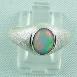 4.74 gr opalring, silver ring with Welo Opal 1.14 ct