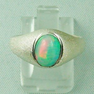 4.51 gr opalring, silver ring with Welo Opal 1.35 ct