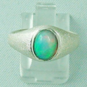 Opalring / Sterling Silberring mit 1,36 ct Top Welo Opal