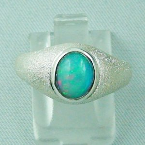 4.48 gr opalring, silver ring with Welo Opal 1.08 ct