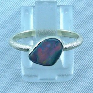 Opalring, 2.49 gr. goldring 14k with semi black opal 0.86 ct, pic6