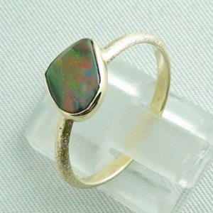 Opalring, 2.49 gr. goldring 14k with semi black opal 0.86 ct, pic4