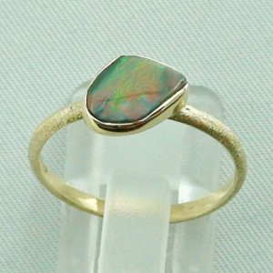 Opalring, 2.49 gr. goldring 14k with semi black opal 0.86 ct, pic3