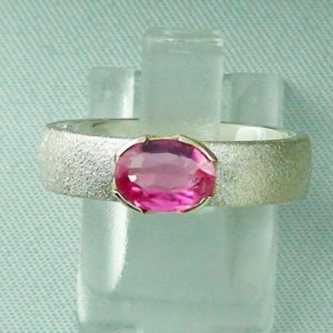 5.40 gr tourmalinering, silver ring with tourmaline 1.05 ct in 14k gold
